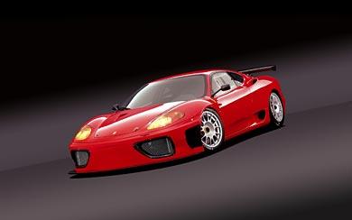 2003 Ferrari 360 GT wallpaper thumbnail.