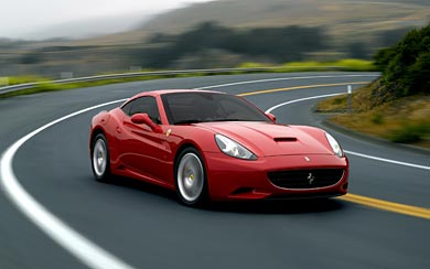 2009 Ferrari California wallpaper thumbnail.