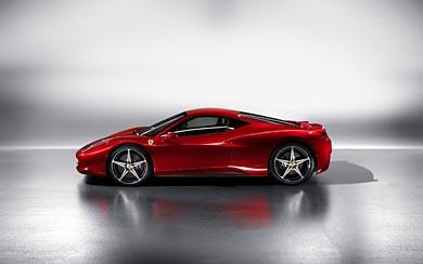 2010 Ferrari 458 Italia wallpaper thumbnail.