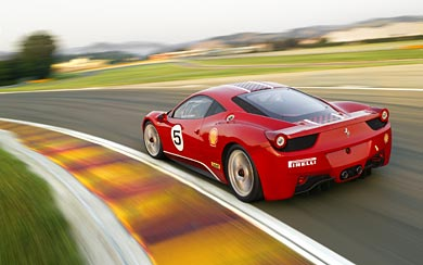 2011 Ferrari 458 Challenge wallpaper thumbnail.