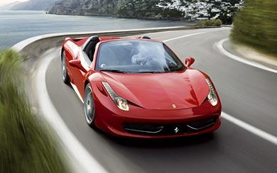 2013 Ferrari 458 Spider wallpaper thumbnail.