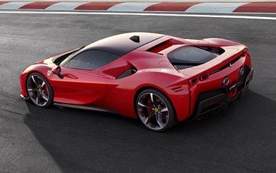 2020 Ferrari SF90 Stradale wallpaper thumbnail.