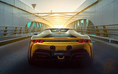 2021 Ferrari SF90 Spider wallpaper thumbnail.
