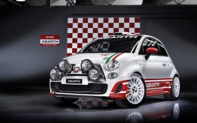 2010 Fiat Abarth 500 R3T wallpaper thumbnail.