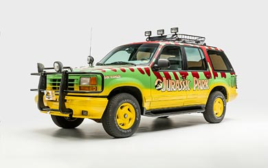 1992 Ford Explorer Limited XLT 'Jurassic Park' wallpaper thumbnail.