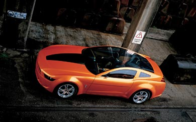 2006 Ford Mustang Giugiaro Concept wallpaper thumbnail.