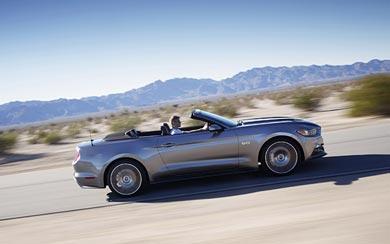 2015 Ford Mustang GT Convertible wallpaper thumbnail.