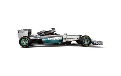 2014 Mercedes AMG W05 wallpaper thumbnail.