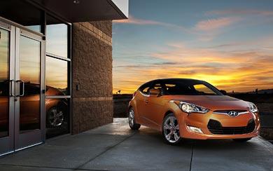 2012 Hyundai Veloster wallpaper thumbnail.