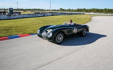 1952 Jaguar C-Type wallpaper thumbnail.