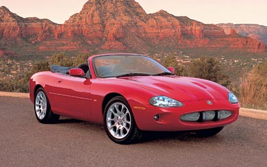 2002 Jaguar XKR Convertible wallpaper thumbnail.