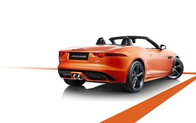 2014 Jaguar F-Type Black Pack wallpaper thumbnail.