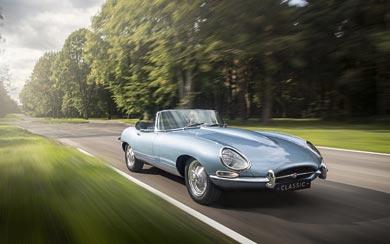 2017 Jaguar E-Type Zero Concept wallpaper thumbnail.