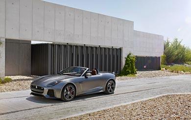 2017 Jaguar F-Type SVR Convertible wallpaper thumbnail.