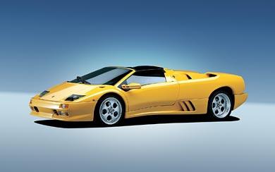 1996 Lamborghini Diablo VT Roadster wallpaper thumbnail.