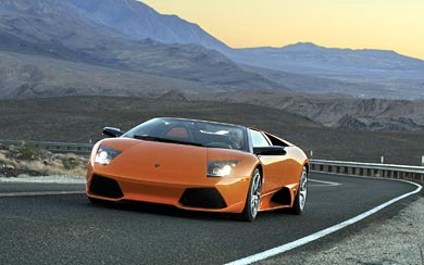 2007 Lamborghini Murcielago LP640 Roadster wallpaper thumbnail.