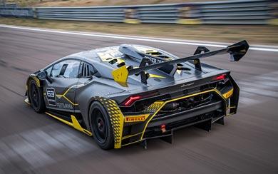 2018 Lamborghini Huracan Super Trofeo EVO wallpaper thumbnail.