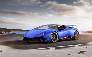 2019 Lamborghini Huracan Performante Spyder wallpaper thumbnail.