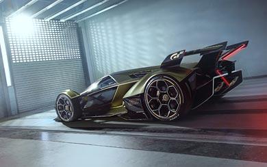 2019 Lamborghini Lambo V12 Vision Gran Turismo Concept wallpaper thumbnail.