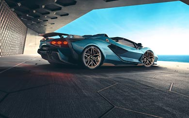 2021 Lamborghini Sian Roadster wallpaper thumbnail.