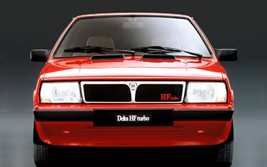 1983 Lancia Delta HF Turbo wallpaper thumbnail.