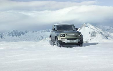 2020 Land Rover Defender wallpaper thumbnail.