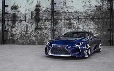2012 Lexus LF-LC Blue Concept wallpaper thumbnail.
