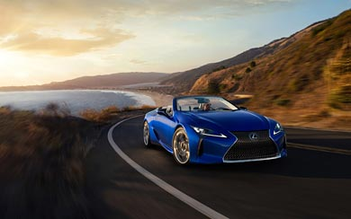 2021 Lexus LC 500 Convertible wallpaper thumbnail.