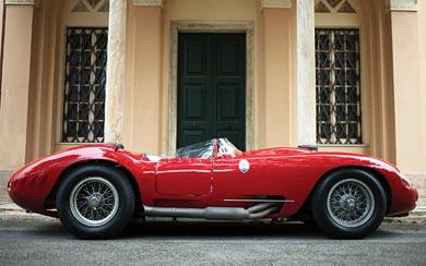 1956 Maserati 450S Prototype by Fantuzzi wallpaper thumbnail.