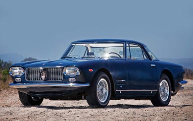 1961 Maserati 5000 GT Coupe wallpaper thumbnail.