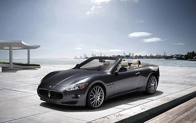 2010 Maserati GranCabrio wallpaper thumbnail.