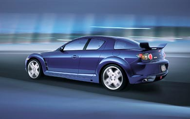 2003 Mazda RX-8 X-Men wallpaper thumbnail.