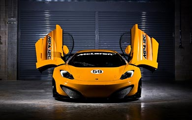 2011 McLaren MP4-12C GT3 wallpaper thumbnail.