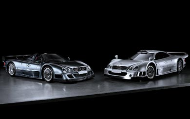 1999 Mercedes-Benz CLK GTR wallpaper thumbnail.