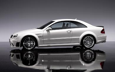 2008 Mercedes-Benz CLK63 AMG Black wallpaper thumbnail.