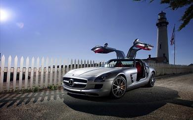 2010 Mercedes-Benz SLS AMG wallpaper thumbnail.