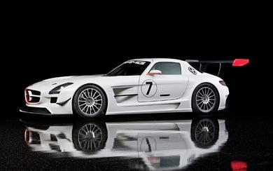 2010 Mercedes-Benz SLS AMG GT3 wallpaper thumbnail.
