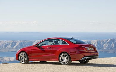 2014 Mercedes-Benz E-CLass Coupe wallpaper thumbnail.