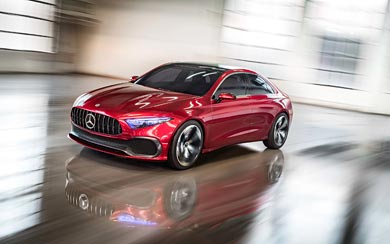 2017 Mercedes-Benz A Sedan Concept wallpaper thumbnail.