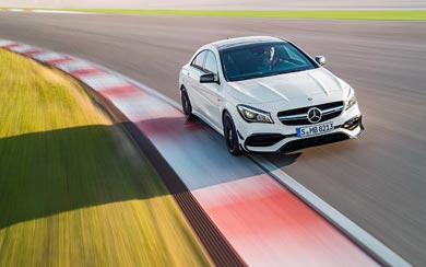 2017 Mercedes-Benz CLA45 AMG wallpaper thumbnail.