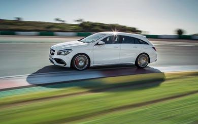 2017 Mercedes-Benz CLA45 AMG Shooting Brake wallpaper thumbnail.