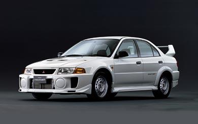 1998 Mitsubishi Lancer GSR Evolution V wallpaper thumbnail.
