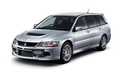 2005 Mitsubishi Lancer Evolution IX Wagon wallpaper thumbnail.