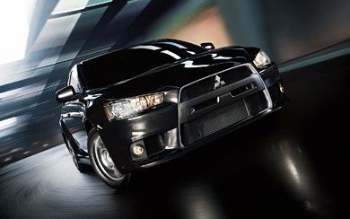 2011 Mitsubishi Lancer EVO X wallpaper thumbnail.