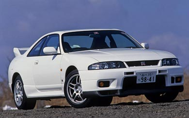 1996 Nissan Skyline GT-R V-spec wallpaper thumbnail.