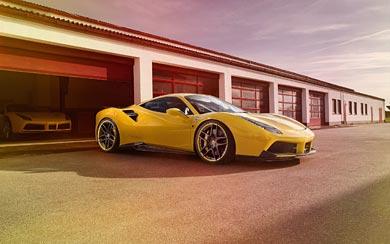 2016 Novitec Rosso Ferrari 488 GTB wallpaper thumbnail.