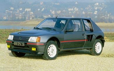 1984 Peugeot 205 T16 wallpaper thumbnail.