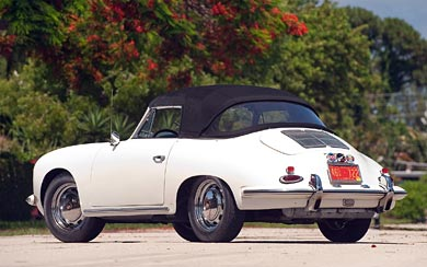 1964 Porsche 356C wallpaper thumbnail.