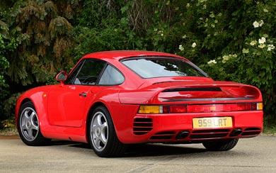 1986 Porsche 959 wallpaper thumbnail.
