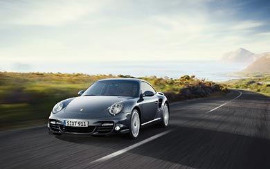 2010 Porsche 911 Turbo wallpaper thumbnail.